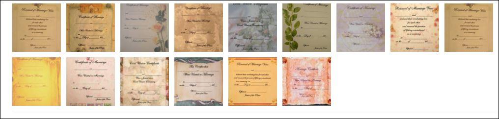 certificate styles